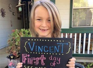 心塞!7岁的他蓄发两年为患者加油,自己却患上癌症