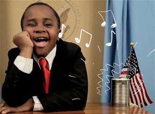 """采访奥巴马、亲吻碧昂斯,11岁的他成了美国""""小孩总统""""!"""