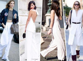 女神都要有一条白色的长裤