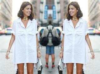 入夏了穿什么最显瘦?当然是衬衫裙啊!