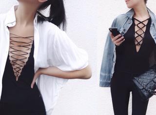 这是一件平胸妹纸和大胸妹纸都可穿的上衣
