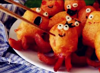 【美食圈】超可爱的香肠小章鱼,原来做法这么简单!