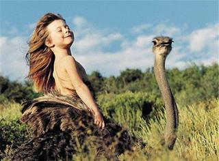 与狮子共舞,和鸵鸟赛跑,这个非洲出生的法国小姑娘终于长大了!