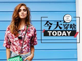 """【今天穿啥】印花不是大妈专利?这样穿印花T恤,做一个美美的""""花""""季少女~"""