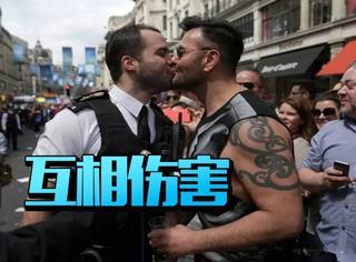 一出好戏!伦敦游行上求婚的那对gay把前任给惹哭了