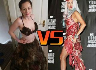 为打败Lady Gaga的肉片裙,她收集全球人的毛发做了件衣服