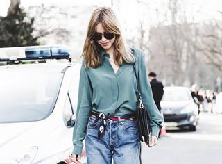 穿搭 | 衬衫+牛仔裤,轻松营造出街范儿