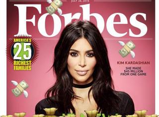 名媛开启圈钱新模式,卡戴珊靠手机游戏上了《福布斯》封面