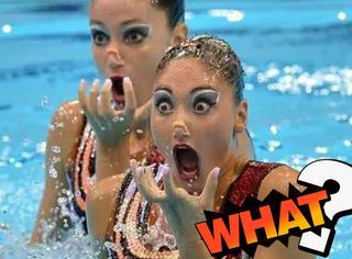 如果水上芭蕾的瞬间被定格,简直笑cry