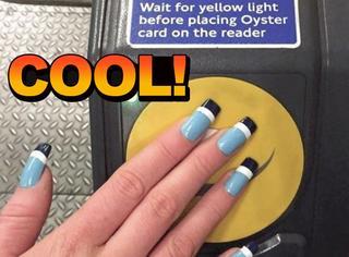 设计师发明指甲公交卡,以后刷手就行了?