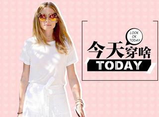 【今天穿啥】纯白色系也有小心机~教你轻松显腿又斩男!