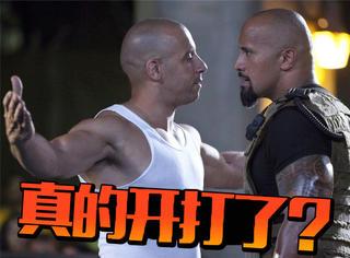 好莱坞两个最强壮的大块头撕X了?《速激8》没拍完先内斗!