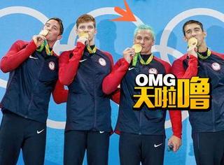 继奥运水池变绿后,运动员的头发也绿了