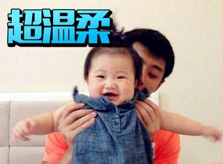 别看张继科一脸冷漠,抱孩子的效果秒杀人贩子陈伟霆