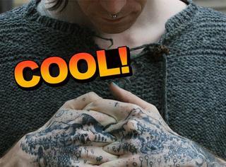 纹身要的就是态度啊!她的刺青神秘又诡异
