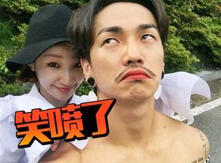 韩国情侣互换衣服穿,心疼这个负责搞笑的男盆友