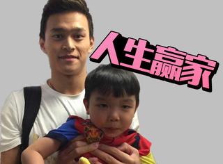 孙杨陪他玩、宁泽涛给他当背景板,这个小孩绝对是人生赢家!