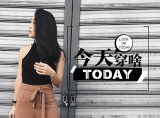 【今天穿啥】驼色阔腿裤就是经典还好看,不服来战咯!
