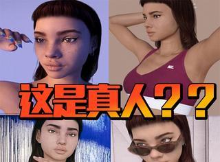 模特晒自拍照和虚拟动漫人物一模一样
