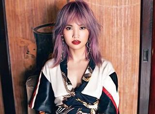 """【时装片】杨丞琳的""""奶奶紫""""发色终于搭对衣服了!"""