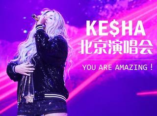 看现场嗑药似的观众就知道,不管Kesha穿什么都很辣!