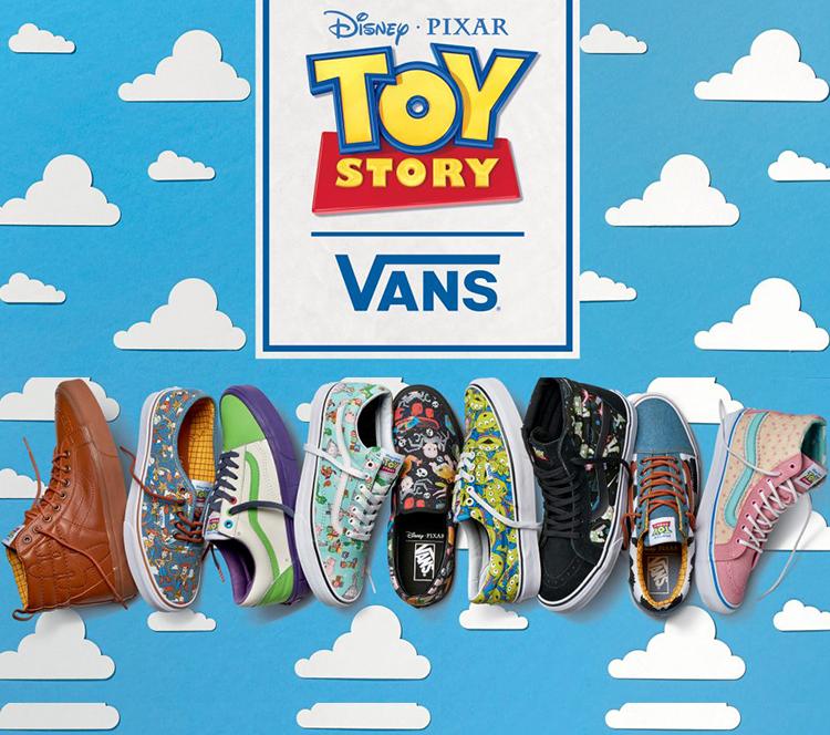 又一波萌物来袭!Vans联合迪斯尼推出《玩具总动员》系列了!