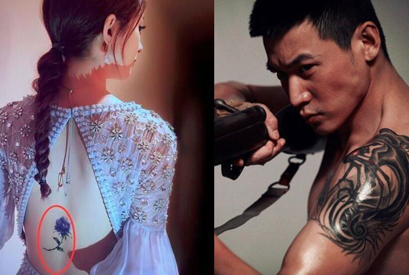 赵丽颖or陆毅!每个明星纹身背后都有一个催泪理由?!