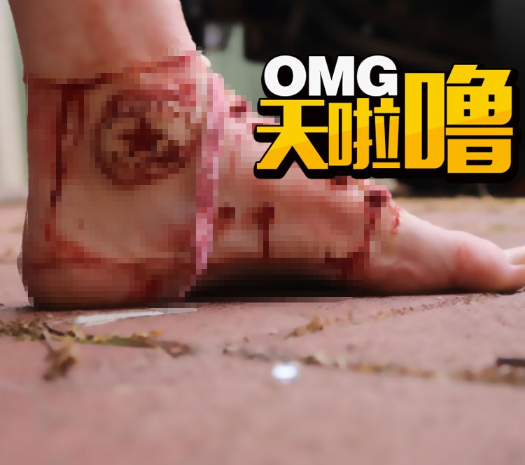 据说这是史上最可怕的匡威鞋?等等,好像是特效化妆师干的