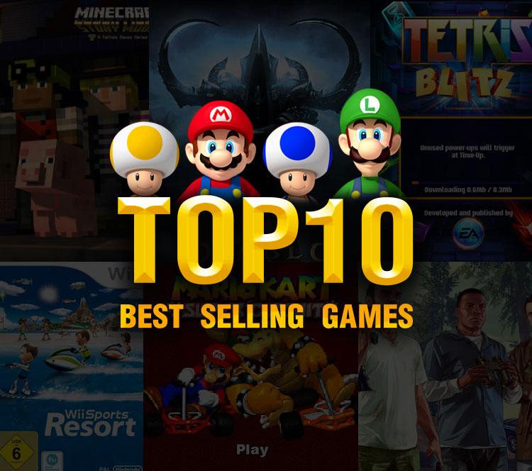 游戏带你飞!历史上卖得最好的TOP10游戏都有哪些,快进来看看