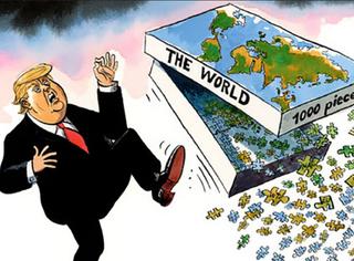 川普当选看看漫画家们都怎么表示的!