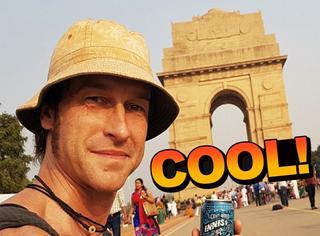 背包客小哥用120罐啤酒换乘换宿5000英里到印度