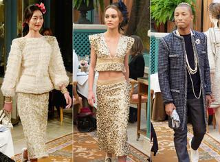 刘雯、Lily、菲董这些头排看秀嘉宾走上T台,你说Chanel的面子有多大!