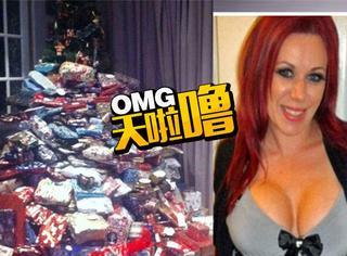 外国妈妈买圣诞礼物成瘾,每人能收100份