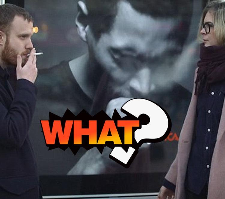 一抽烟男模就咳嗽,厉害了瑞典的广告牌