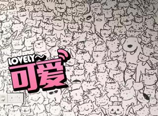 新加坡妹子用6个小时画了一个属于猫奴的房间