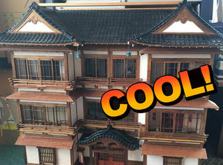 这个日本爷爷厉害了,做出了超迷你的和风别墅