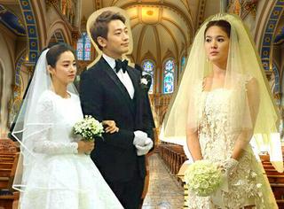 """前任、现任迷之相似 Rain的两次""""婚礼""""新娘都穿同一类型婚纱"""