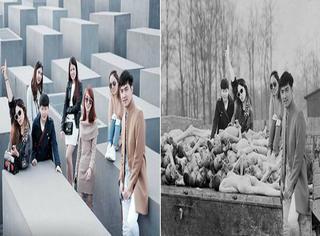 大量游客在大屠杀纪念馆开心留影,德国艺术家P图进行讽刺!