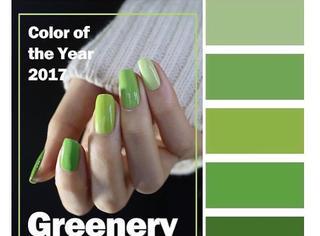 年度色草木绿系美甲,今年时髦就靠它了!