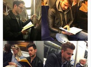 地铁里好看的男生们都在阅读,上进又帅气的他们才叫男友力Max
