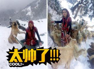 土耳其英雄少女,和牧羊犬雪地里救了一对山羊