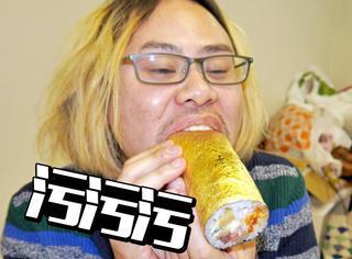 日本最豪迈的寿司,还裹着金箔...
