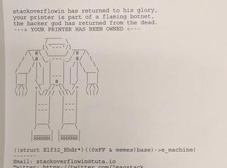 无聊的小哥黑了15万台打印机,印出无数机器人和打油诗