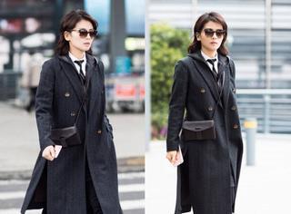 刘涛真是搭配高手,性冷淡的单品居然被她混穿出了十足的帅气!