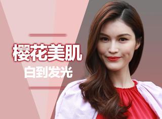 何穗告诉你2017美白新时尚,樱花白才是美肌流行色!