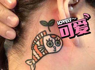 韩国纹身师专门给人纹动物,这画面太萌