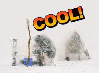 在零下40度的雪地里,他们这样钓鱼