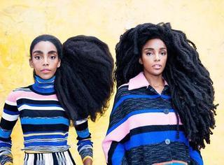 卷发又浓密是好是坏呢?双胞胎姐妹浓密卷发走红