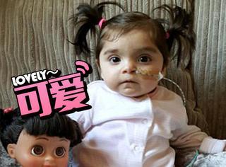 现实版洋娃娃,从出生时就有一头浓密秀发