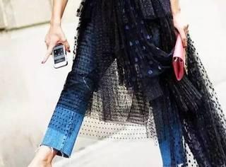 裙子+裤子才是春季时髦又保暖的最佳搭配!